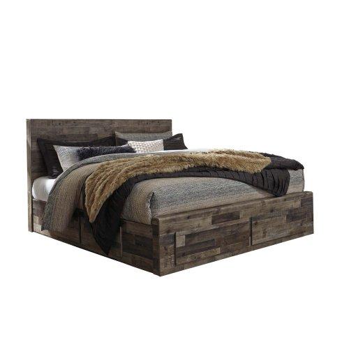 Derekson - Multi Gray 5 Piece Bed Set (King)