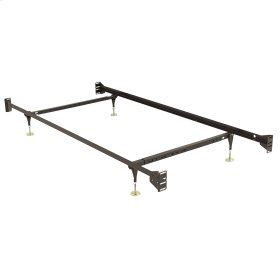 Fashion Bed Rails 734 Brass Keyslot Bed Frame with Bolt-On Headboard Brackets and (4) Adjustable Leg Glides, Twin / Full
