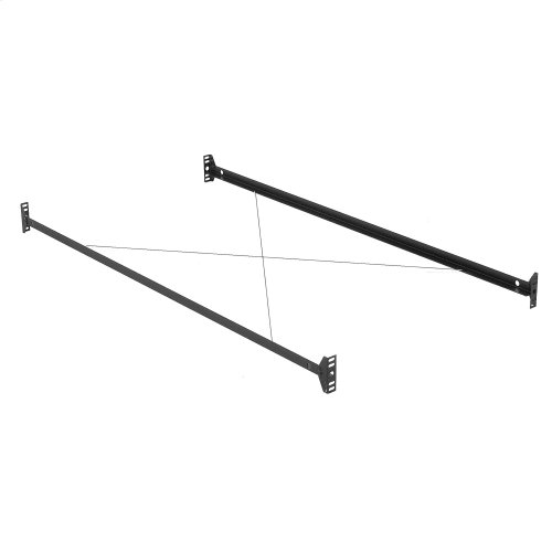 81-Inch 35B Black Bed Frame Side Rails with Bolt-On Brackets and Sta-Tite Wires for Headboards and Footboards, Queen
