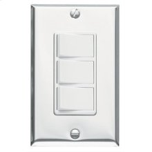 Multi-Function Wall Control in White; Ventilation Fans