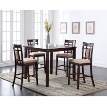 Vernon 5 Pc Square Counter Height Pub Set