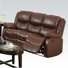 BROWN LOVESEAT W/MOTION