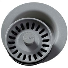"""Elkay Polymer 3-1/2"""" Disposer Flange with Removable Basket Strainer and Rubber Stopper Greystone"""