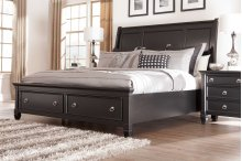 Greensburg - Black 3 Piece Bed Set (Cal King)