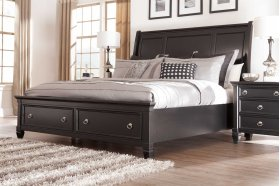 Greensburg - Black 3 Piece Bed Set (Cal King)