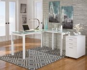 Baraga - White 2 Piece Home Office Set Product Image