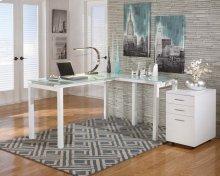 Baraga - White 2 Piece Home Office Set