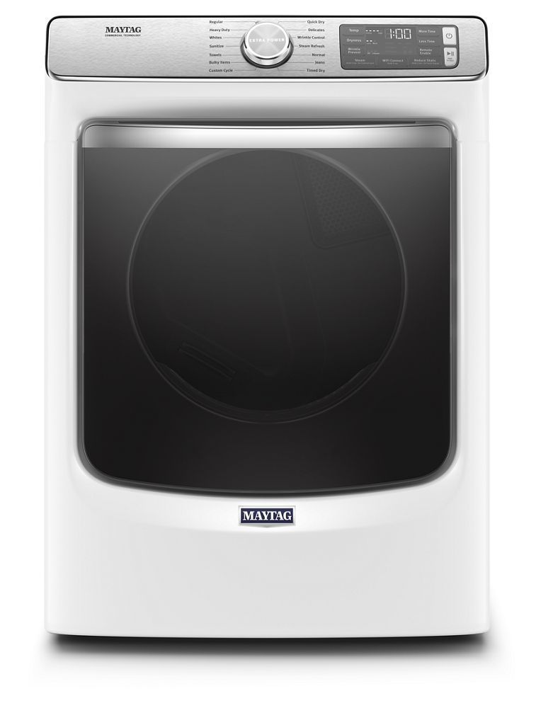 MaytagSmart Front Load Electric Dryer With Extra Power And Advanced Moisture Sensing With Industry-Exclusive Extra Moisture Sensor - 7.3 Cu. Ft.