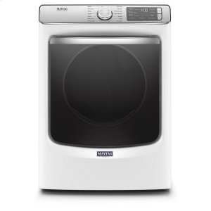 Smart Front Load Electric Dryer with Extra Power and Advanced Moisture Sensing with industry-exclusive extra moisture sensor - 7.3 cu. ft. - WHITE
