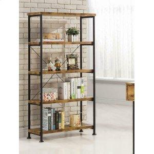 CoasterBarritt Industrial Antique Nutmeg Bookcase