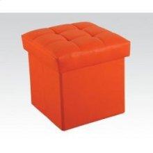 Orange Ottoman W/storage