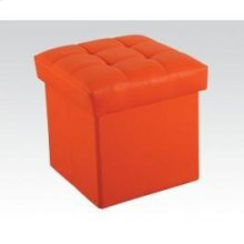 Orange Ottoman W/storage