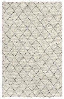Diamond Looped Wool Ivory 5x8