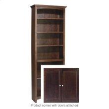 """CAF 72""""H x 24""""W McKenzie Alder Bookcase w/doors"""