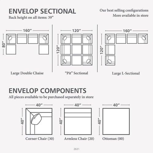 Envelop Large U-Shaped Sectional