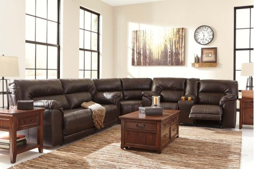Barrettsville - Chocolate 3 Piece Sectional