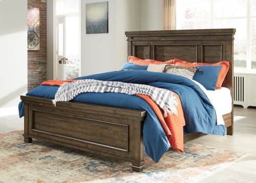 Darloni - Grayish Brown 3 Piece Bed Set (Cal King)