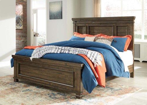 Darloni - Grayish Brown 3 Piece Bed Set (King)