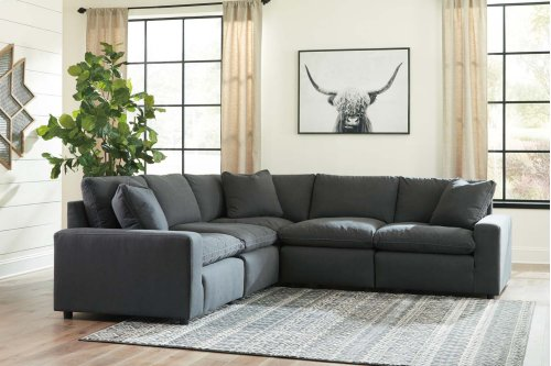 Savesto - Charcoal 2 Piece Sectional