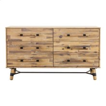 Hudson 6 Drawer Low Dresser