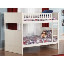 Nantucket Bunk Bed Full over Full in White