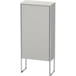 Semi-tall Cabinet Floorstanding, Nordic White Satin Matt Lacquer