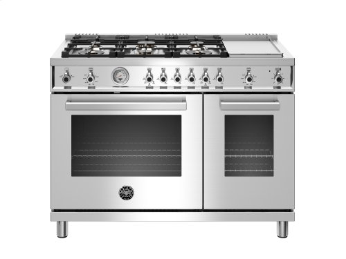 48 inch All-Gas Range 6 Brass Burner and Griddle Stainless