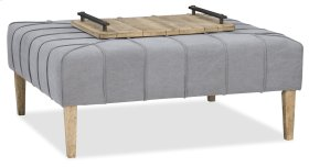 Living Room Urban Elevation Square Ottoman/Cocktail Table