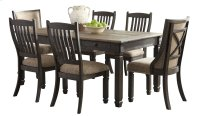 Tyler Creek - Black/Gray 7 Piece Dining Room Set Product Image