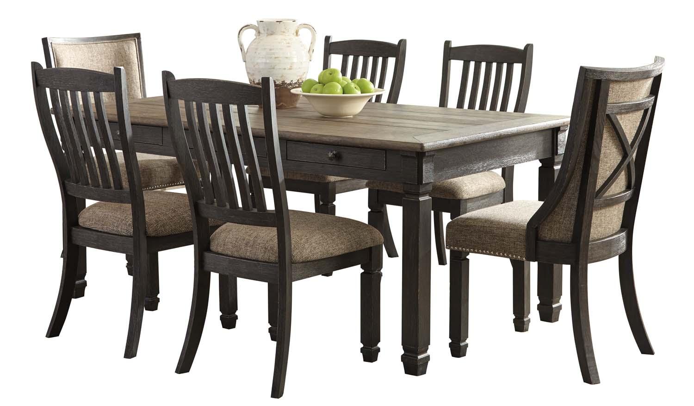 7 piece black dining room set. Tyler Creek - Black/Gray 7 Piece Dining Room Set Black