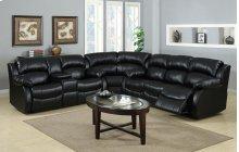 Kaden Black Leather Reclining Sectional