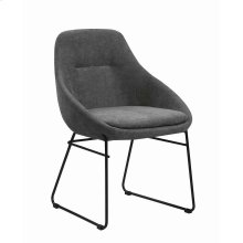 Grey and Matte Black Dining Chair