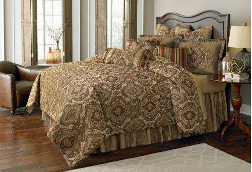 12 pc Queen Comforter Set Lichen