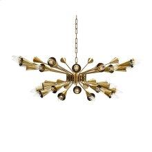 Sputnik Chandelier In Antique Brass