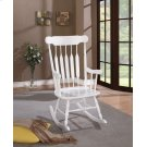 Traditional White Rocking Chair Product Image