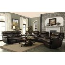Macpherson Brown Leather Glider Recliner Product Image