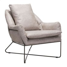 Finn Lounge Chair Distressed Gray
