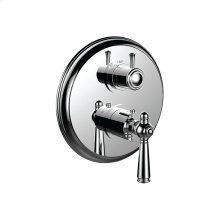 """7098jp-tm - 1/2"""" Thermostatic Trim With 3-way Diverter Trim (shared Function) in Polished Chrome"""