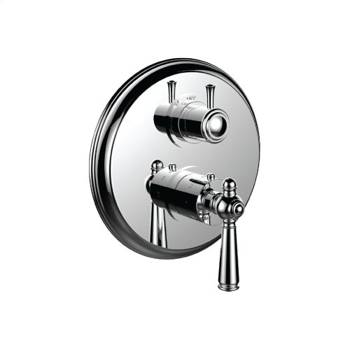 """7098jp-tm - 1/2"""" Thermostatic Trim With 3-way Diverter Trim (shared Function) in Bright Victorian Copper"""