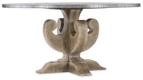 Dining Room Boheme Ascension 60in Zinc Round Dining Table