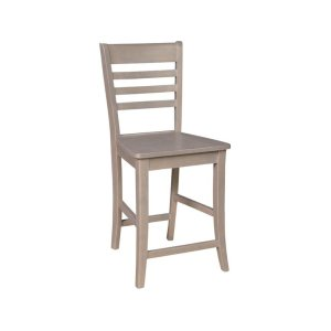 JOHN THOMAS FURNITURERoma Stool in Taupe Gray