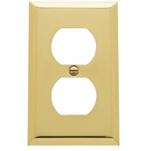 Polished Brass Beveled Edge Duplex