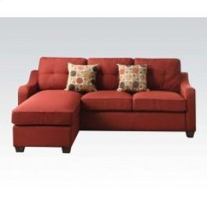 53740 In By Acme Furniture Inc In St Paul Mn Red Sectional Sofa W