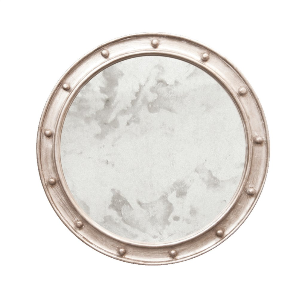 Champagne Silver Leaf Federal Style Frame With Antique Mirror.
