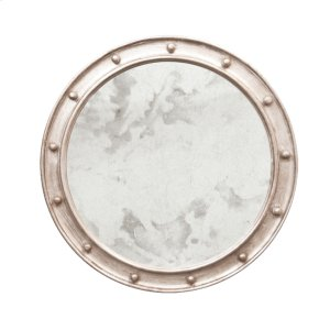 Worlds Away Our Large Round Antique Mirror Is The Essential Accent For Your Entry Hall Or Bathroom Vanity. Its Federal Style Frame Is Hand Finished In Shimmering Champagne Silver Leaf.