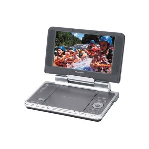 "Panasonic8.5"" Diagonal Widescreen Portable DVD Player with Headrest Mounting Bracket"