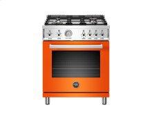30 inch All Gas Range, 4 Brass Burner Orange