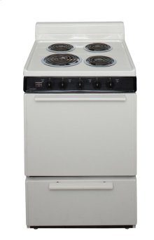24 in. Freestanding Electric Range in Biscuit