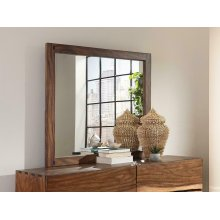 Rustic Smoky Walnut Mirror
