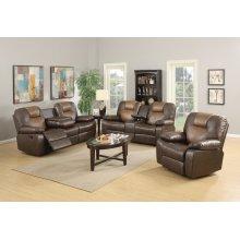 Jordana Two-Tone Brown Leather Gel Rocker Recliner Chair